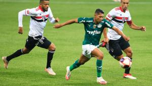 Miranda, Reinaldo e Rony na final do Paulista entre Palmeiras e São Paulo