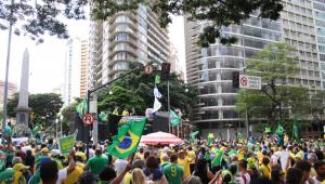Manifestação de apoiadores de Jair Bolsonaro em Belo Horizonte, MG