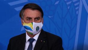 O presidente da república, Jair Bolsonaro, durante cerimônia em Brasília