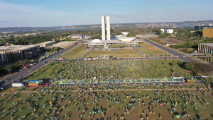 Manifestações a favor do presidente Jair Bolsonaro em Brasília