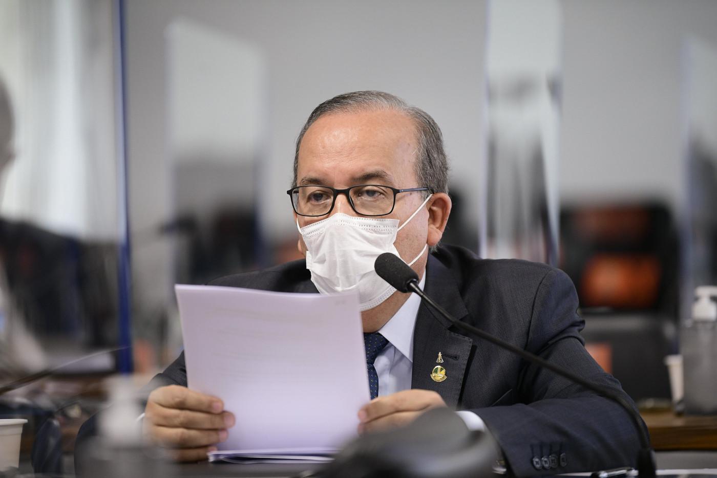 Em pronunciamento à CPI da Covid-19, senador Jorginho Mello