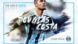 Douglas Costa é anunciado no Grêmio