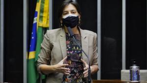 A deputada Natália Bonavides durante aprovação de matéria na Câmara dos Deputados