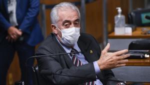 O senador Otto Alencar durante pronunciamento na CPI da Covid-19