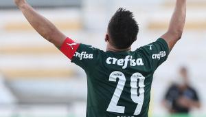 Willian comemora gol do Palmeiras sobre a Ponte Preta