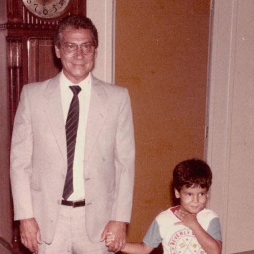 Covas com o avô Mário, ex-governador de São Paulo, em 1985