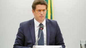Ministro do Meio Ambiente, Ricardo Salles durante reunião na Câmara dos Deputados