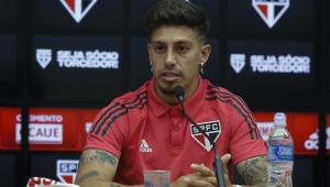 Emiliano Rigoni em apresentação pelo São Paulo