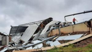 tornado atinge município em Santa Catarina
