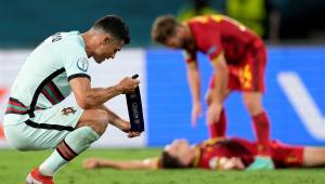 Cristiano Ronaldo lamenta eliminação de Portugal na Eurocopa diante da Bélgica