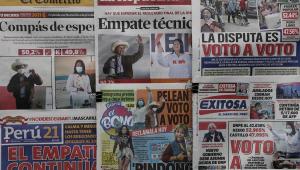 Jornais peruanos mostram empate técnico entre os candidatos à presidência do país