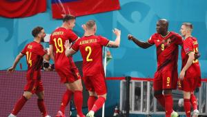 A Bélgica venceu a Rússia na estre ia Eurocopa com dois gols de Romelu Lukaku