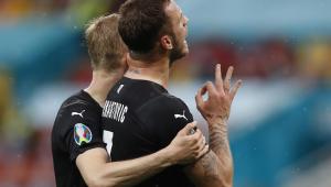 Arnautovic fez gesto racista durante Áustria x Macedônia Norte