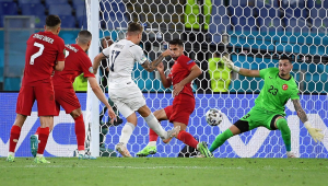 Immobile deixou o seu gol na vitória da Itália contra a Turquia na abertura da Eurocopa