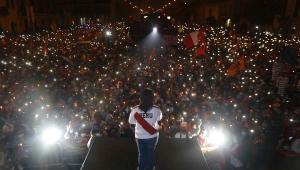 Manifestação a favor de Keiko Fujimori no Peru