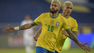 neymar comemora gol do brasil