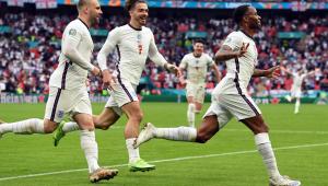 Sterling marcou na vitória da seleção inglesa diante da Alemanha, pela Eurocopa