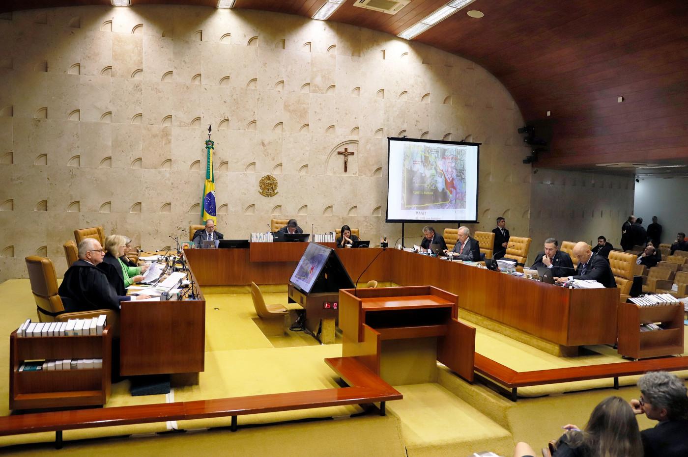 Plenário do STF com a presença dos ministros