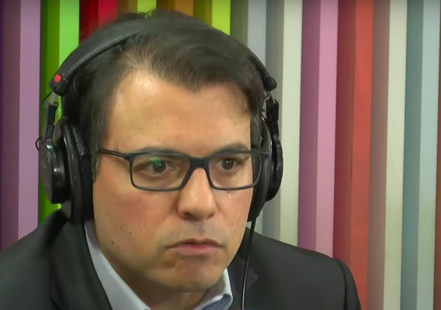 Otavio Fakhoury durante entrevista ao programa Morning Show