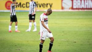 Miranda sofreu um estiramento na derrota do São Paulo para o Atlético-MG