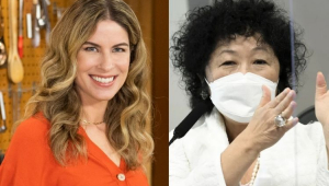 Rita Lobo sorrindo e Nise Yamaguchi prestando depoimento na CPI da Covid