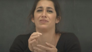 Daniele Hypólito chorando