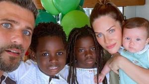 Bruno Gagliasso e Giovanna Ewbank com os filhos