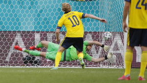 Forsberg marcou na vitória da Suécia sobre a Eslováquia pela Eurocopa