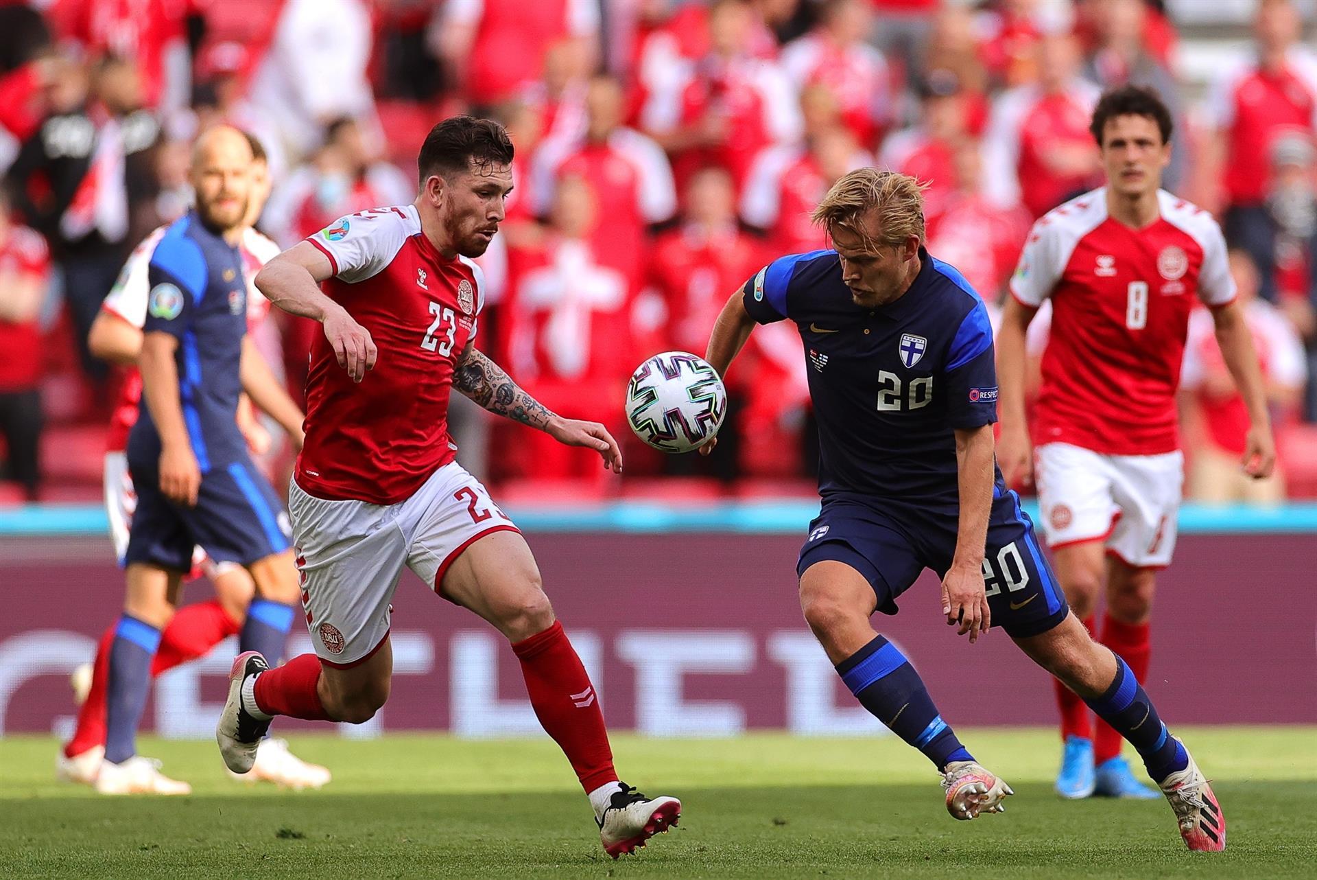 A Finlândia venceu a Dinamarca na estreia da Eurocopa