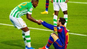 Emerson ajuda Messi a se levantar em confronto entre Betis e Barcelona
