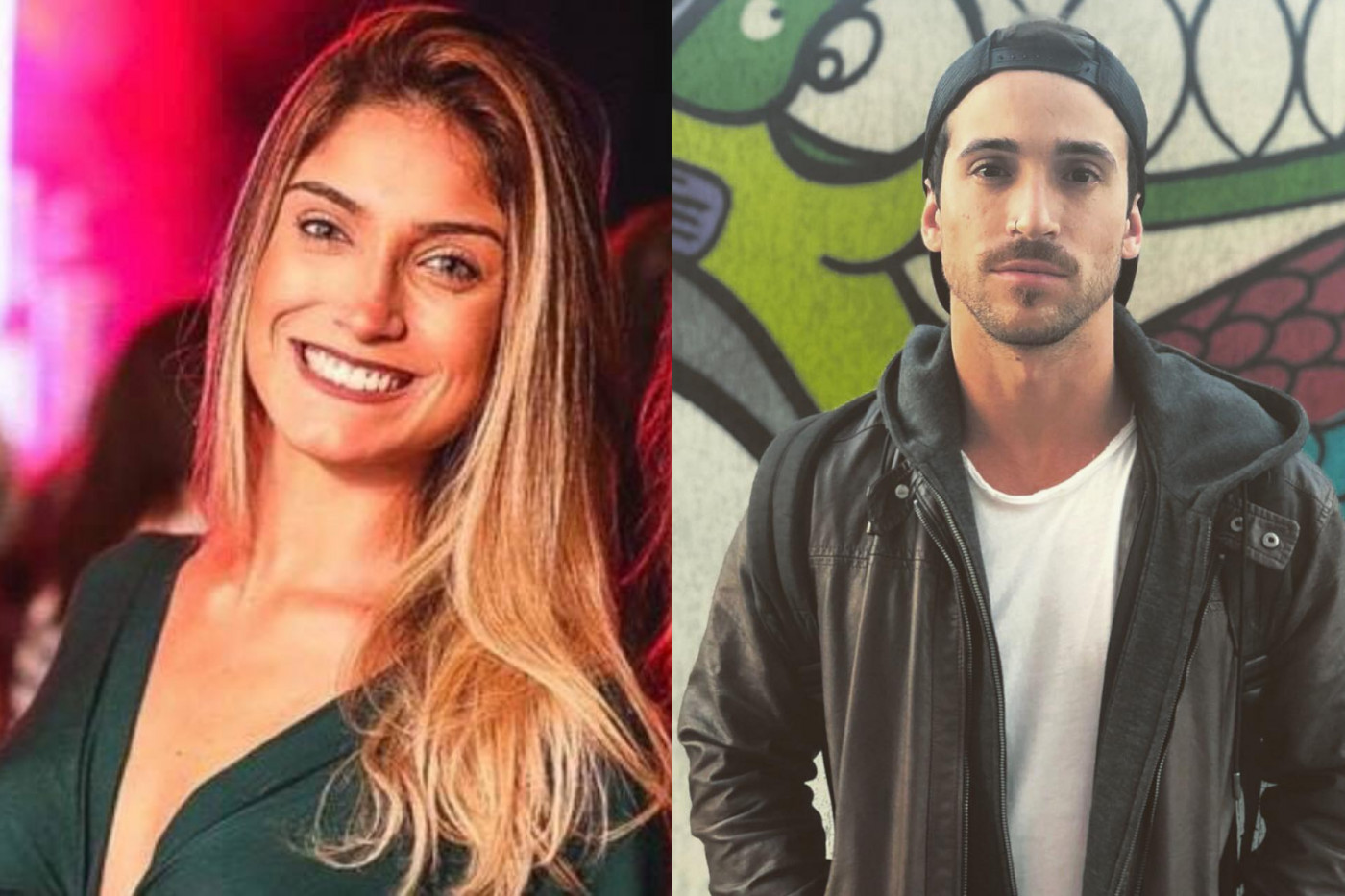 Fotos de Matheus Correia Viana e de Nathalia Guzzardi Marques, encontrados no mortos no apartamento no Leblon