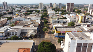 Vista aérea da cidade de Campo Mourão, na Região Centro-Oeste do Paraná,
