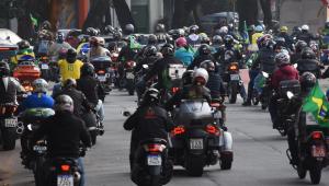 Motociata de apoiadores de Jair Bolsonaro