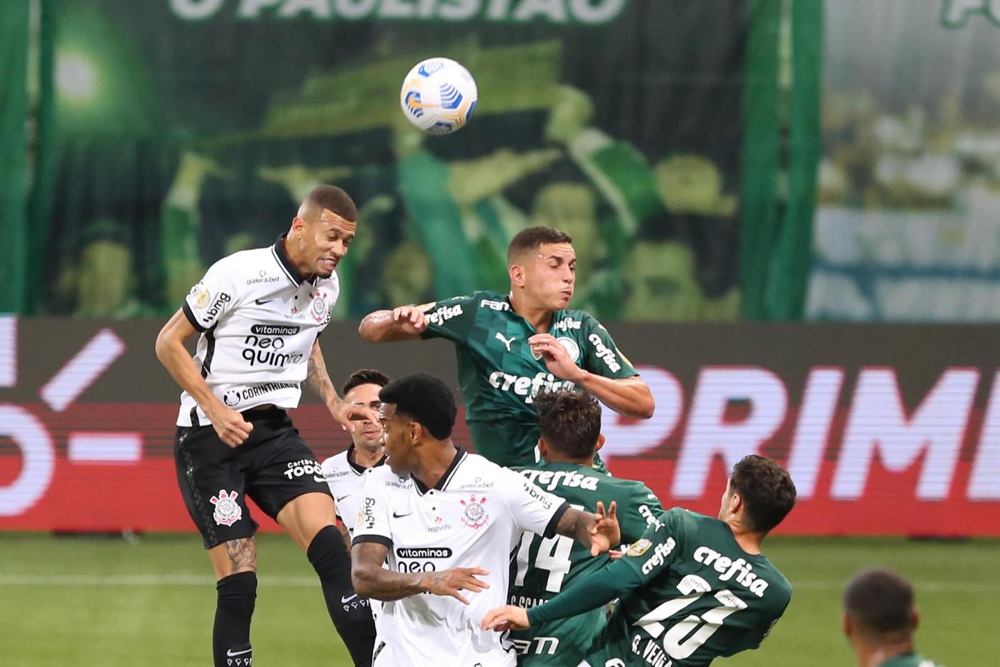Palmeiras e Corinthians empataram em 1 a 1 pelo Campeonato Brasileiro