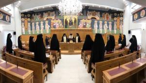 Reunião de padres igreja ortodoxa