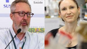 Montagem com dois cientistas