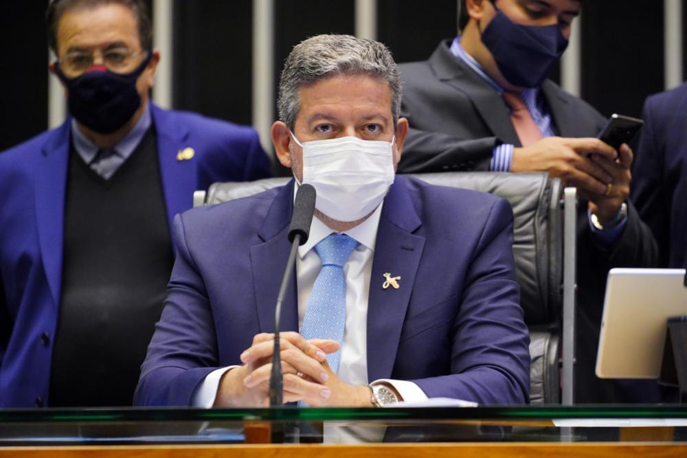 O presidente da Câmara, Arthur Lira, durante sessão na Câmara dos Deputados