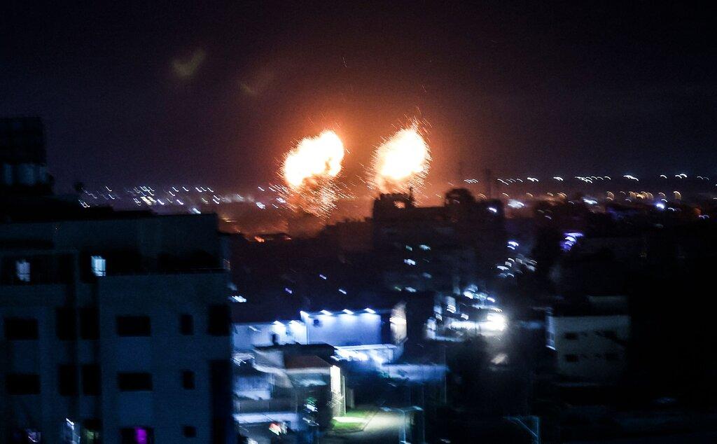 bombardeio em gaza