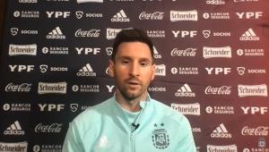 Messi concedeu entrevista coletiva na véspera da estreia da Argentina contra a Bolívia pela Copa América