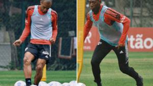 Miranda e Léo treinaram no São Paulo na véspera do clássico contra o Corinthians