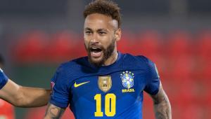Neymar festeja gol da seleção brasileira na vitória contra o Paraguai pelas Eliminatórias da Copa do Mundo de 2022
