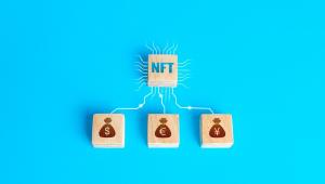 Selo NFT ligado a imagens de dinheiro