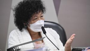 Mulher de máscara depõe na CPI