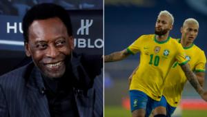 Pelé exaltou Neymar após vitória da seleção sobre o Peru na Copa América