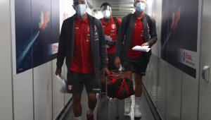 Seleção peruana chegando ao Engenhão para a disputa da Copa América