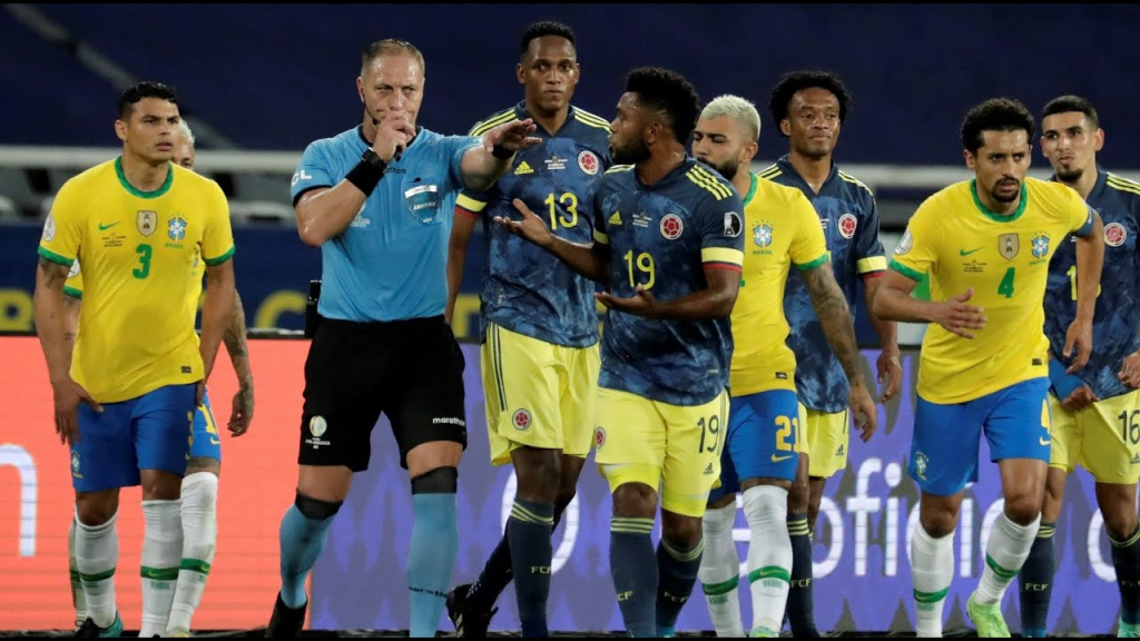 POLÊMICO! Brasil VENCE a Colômbia, que SE REVOLTA com a arbitragem!   CANELADA (23/06/21)