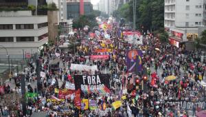 Agências bancárias são depredadas durante protesto em São Paulo
