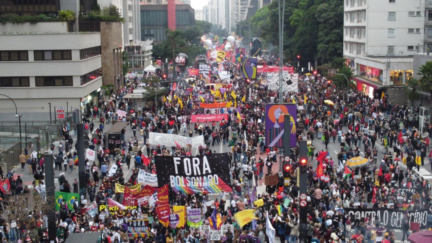 Protesto contra o presidente Jair Bolsonaro na Avenida Paulista