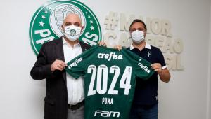 O Palmeiras renovou com a Puma até 2024