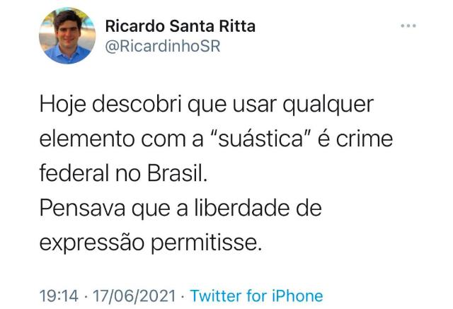 Secretário de Maceió faz publicação sobre suástica